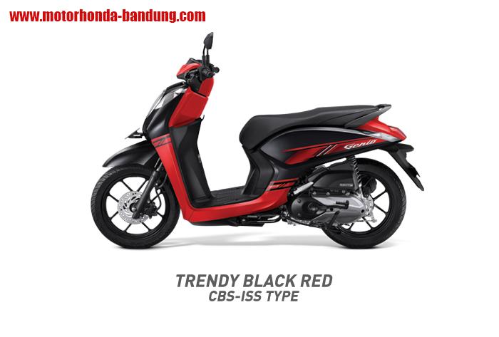 Honda Genio CBS ISS Merah Hitam Bandung