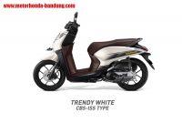 Honda Genio CBS ISS Putih Coklat Bandung