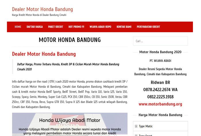 Dealer Motor Honda Bandung | Harga & Kredit Motor Honda